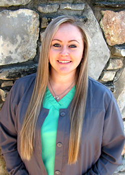 Dental Assistant Ashley for Pediatric Dentist Dr. Rex Wildey in Kerrville, TX.